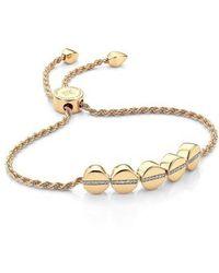Monica Vinader - Diamond Beaded Friendship Bracelet - Lyst