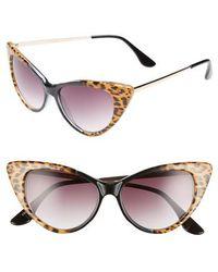 Glance Eyewear - 62mm Leopard Print Cat Eye Sunglasses - - Lyst