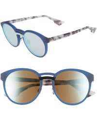 1f111631466ec Dior - Onde 1 50mm Round Sunglasses - Lyst