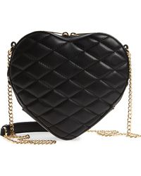 mali + lili - Mali + Lili Violet Quilted Heart Vegan Leather Crossbody Bag - Lyst