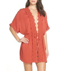 Chelsea28 - Dolman Sleeve Kimono Cover-up - Lyst