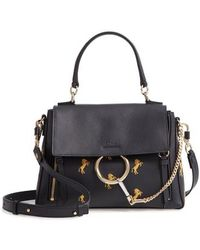 Chloé - Small Faye Daye Embroidered Leather Shoulder Bag - - Lyst