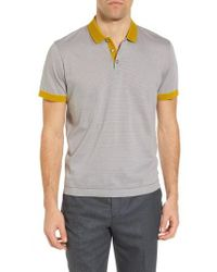 Ted Baker - Beagle Trim Fit Stripe Jersey Polo - Lyst