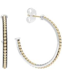 Lagos - 'enso' Caviar Hoop Earrings - Lyst
