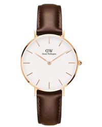 Daniel Wellington - Classic Leather Strap Watch - Lyst