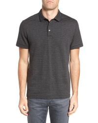 French Connection - Alternative Stripe Short Sleeve Polo - Lyst