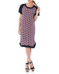 Imanimo - Print Panel Maternity Shift Dress - Lyst