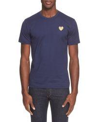Play Comme des Garçons   Crewneck T-shirt   Lyst