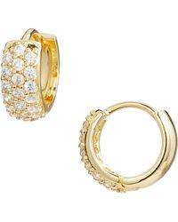 Nordstrom - Pave Wide Hinge Huggie Earrings - Lyst
