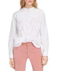 3430baa1103 Étoile Isabel Marant Landers Quilted Silk Top in Pink - Lyst