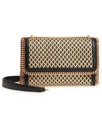 Stella McCartney | Woven Faux Leather Flap Shoulder Bag | Lyst