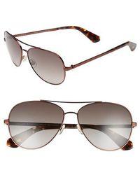 Kate Spade - Avaline 58mm Aviator Sunglasses - Lyst