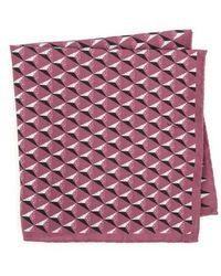 Ted Baker - Geometric Silk Pocket Square - Lyst