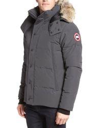 Canada Goose | Wyndham Slim Fit Genuine Coyote Fur Trim Down Jacket | Lyst
