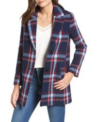 English Factory - Single Breasted Plaid Coat - Lyst