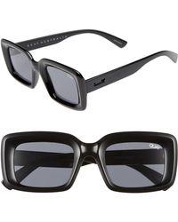 Quay - Going Solo 48mm Square Sunglasses - Lyst