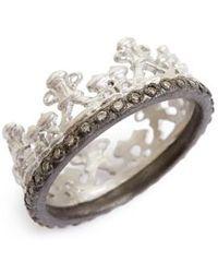 Armenta | Old World Half Crown Diamond Ring | Lyst