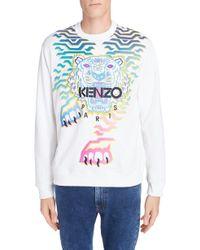 KENZO - Rainbow Geo Tiger Embroidered Crewneck Sweatshirt - Lyst