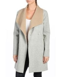 PAIGE | 'lily' Drape Collar Wool Blend Coat | Lyst