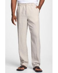 Tommy Bahama | 'new Linen On The Beach' Easy Fit Trousers | Lyst
