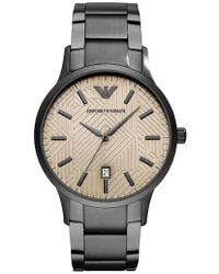 Emporio Armani - Round Bracelet Watch - Lyst