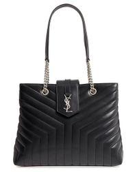 Saint Laurent - Large Loulou Matelasse Leather Shopper - Lyst