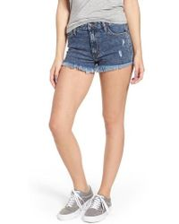 Wrangler - Acid Wash Denim Shorts - Lyst