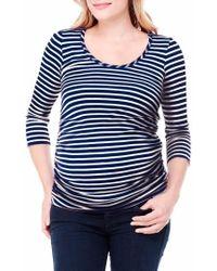 Ingrid & Isabel | Ingrid & Isabel Stripe Ruched Maternity Top | Lyst