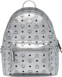 MCM - Small Stark Side Stud Metallic Faux Leather Backpack - Metallic - Lyst