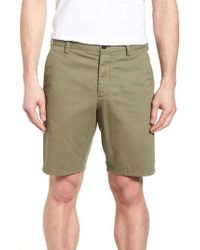 French Connection - Machine Gun Stretch Cotton Shorts - Lyst