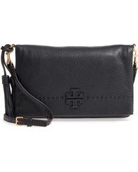 dffc384075b8 Tory Burch - Mcgraw Leather Crossbody Bag - - Lyst