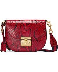 Gucci - Medium Padlock - Genuine Python Shoulder Bag - Lyst