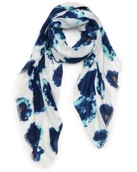 Sole Society - Watercolor Floral Scarf - Lyst