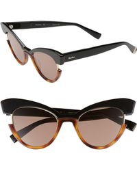 8d9776584760 Max Mara Gem I 51mm Acetate Sunglasses in Brown - Lyst