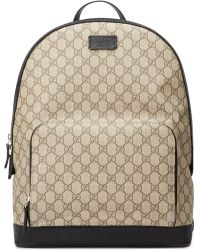 f80e317eaebc5d Gucci Eden Canvas Backpack in Natural for Men - Lyst