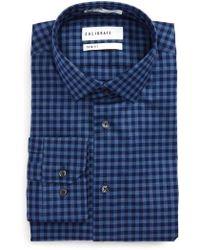 Calibrate | Trim Fit Check Dress Shirt | Lyst