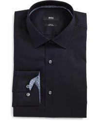 BOSS - Jesse Slim Fit Easy Iron Dress Shirt - Lyst