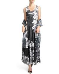 Komarov   Lace-up Back Dress With Wrap   Lyst