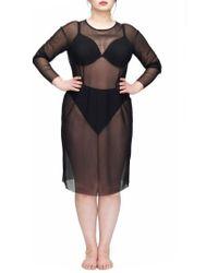 UNIVERSAL STANDARD - Thames Fog Sheer Dress - Lyst