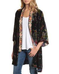 Johnny Was - Kehlani Embroidered Velvet Kimono - Lyst