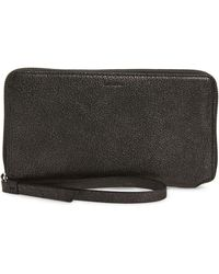 AllSaints - Fetch Leather Phone Wristlet - Lyst