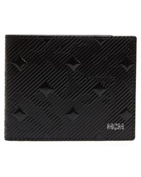 MCM - Coburg Lion Patent Leather Bifold Card Case - - Lyst