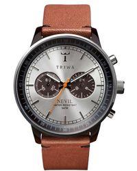 Triwa - 'nevil' Chronograph Leather Strap - Lyst