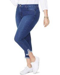 NYDJ - Ami Dolphin Hem Stretch Ankle Skinny Jeans - Lyst