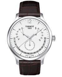 Tissot - Tradition Calendar Leather Strap Watch - Lyst