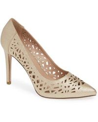BCBGMAXAZRIA - Harrah Perforated Pump - Lyst