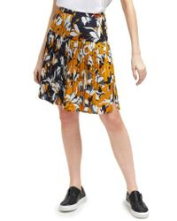 French Connection - Aventine Reverse Pattern Pleated Skirt - Lyst
