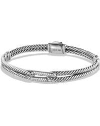 David Yurman - Pavé 'labyrinth' Mini Single Loop Bracelet With Diamonds In Gold - Lyst