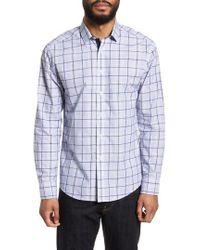 Vince Camuto - Slim Fit Boucle Plaid Sport Shirt - Lyst