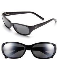 Maui Jim | Kuiaha Bay 55mm Polarizedplus Sport Sunglasses - Midnight Black | Lyst
